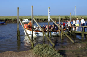 Loading the boat at Morston quay