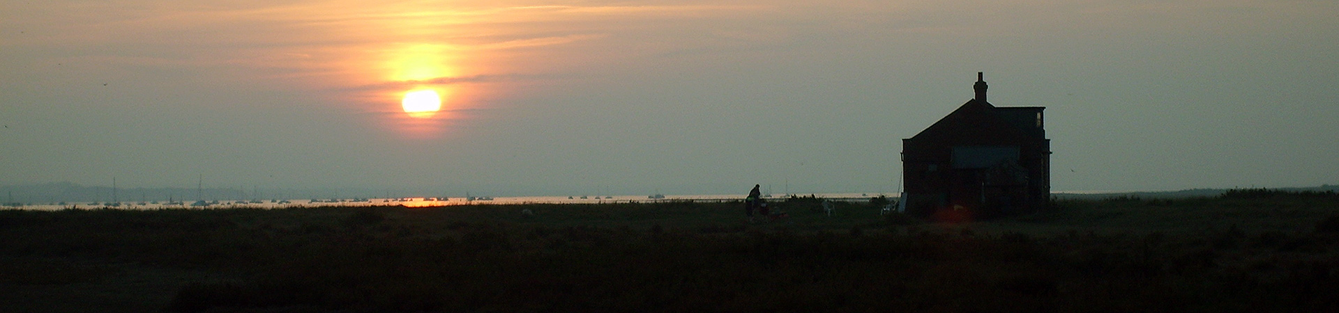 The Watch House at sunset on Blakeney Point