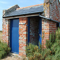 Loo with a View at the The Blakeney Point Watch House